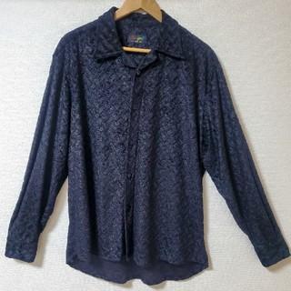 ハレ(HARE)の古着 イタリア製 シャツ ブラック ベロア(シャツ)