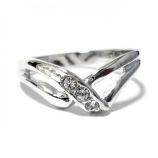 3号 ピンキー スワロフスキークリスタル シルバーリング(リング(指輪))
