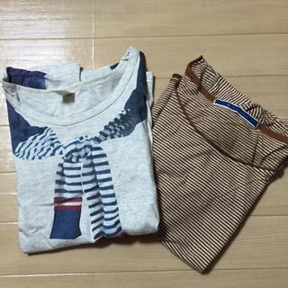ダブルネーム(DOUBLE NAME)の長袖&七分袖 Tシャツ2枚セット(Tシャツ(長袖/七分))