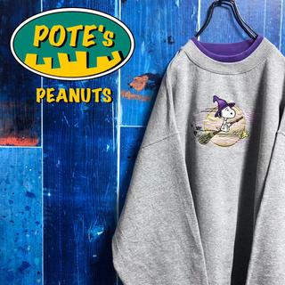 ピーナッツ(PEANUTS)の【ピーナッツ】ウィザードスヌーピービッグキャラ刺繍レイヤードビッグスウェット(スウェット)