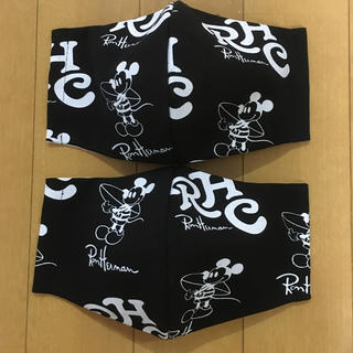 ロンハーマン(Ron Herman)のロンハーマンミッキー   黒2枚セット ディズニーロンハーマンマスク(その他)