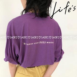 トゥデイフル(TODAYFUL)のTODAYFUL【新品未使用】Back Print T-Shirts(Tシャツ/カットソー(半袖/袖なし))
