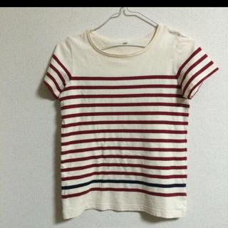 ムジルシリョウヒン(MUJI (無印良品))の無印良品 赤ボーダー(Tシャツ/カットソー)