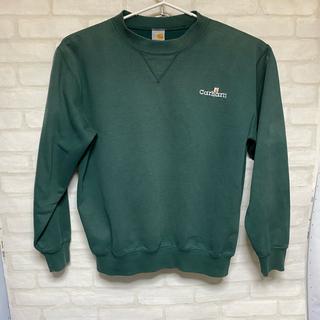 カーハート(carhartt)の90s カーハート スウェット トレーナー 刺繍 アースカラー グリーン(スウェット)