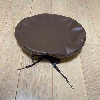 マウジー(moussy)のレザーベレー帽(ハンチング/ベレー帽)