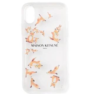 メゾンキツネ(MAISON KITSUNE')のメゾンキツネ スマホケース iPhone X ヨガ フォックス(iPhoneケース)