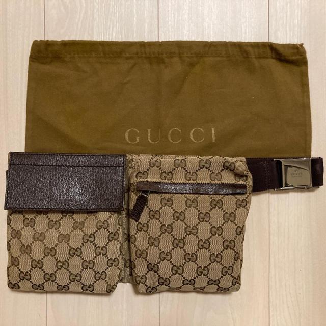 Gucci(グッチ)の美品 GUCCI ボディバッグ ウエストポーチ 28566 GGキャンバス メンズのバッグ(ボディーバッグ)の商品写真