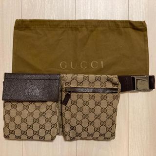 Gucci - 美品 GUCCI ボディバッグ ウエストポーチ 28566 GGキャンバス