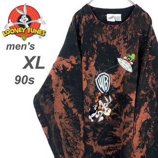 【超希少☆90s ビッグサイズ】古着 ルーニーテューンズ 刺繍 スウェット(スウェット)