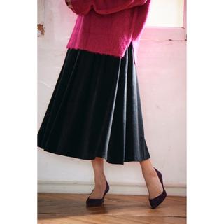 シェリーモナ(Cherie Mona)のスエードライクフレアスカート(ロングスカート)