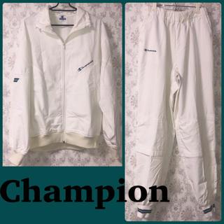 チャンピオン(Champion)のSALE!! Champion セットアップ 上下set ホワイト(トレーニング用品)