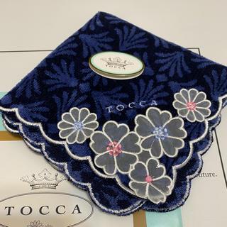 TOCCA - TOCCA  ハンカチ タオル ネイビー 花