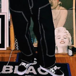 シュプリーム(Supreme)のsupreme double knee painter pants 黒(ペインターパンツ)