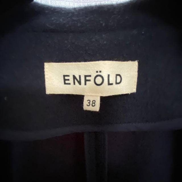 ENFOLD(エンフォルド)の★再値下げ★ENFOLD ロングベストコート 38 ネイビー エンフォルド レディースのトップス(ベスト/ジレ)の商品写真