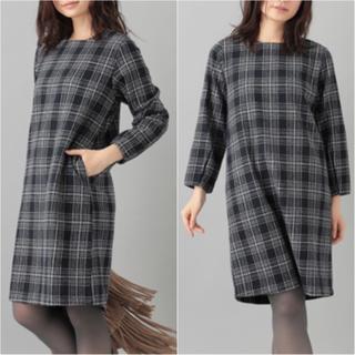 ショコラフィネローブ(chocol raffine robe)の新品未使用 ショコラフィネローブ ロングスリーブ 膝丈ワンピース 長袖(ひざ丈ワンピース)