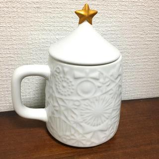 タリーズコーヒー(TULLY'S COFFEE)のタリーズ クリスマス限定 蓋付白マグカップ(グラス/カップ)