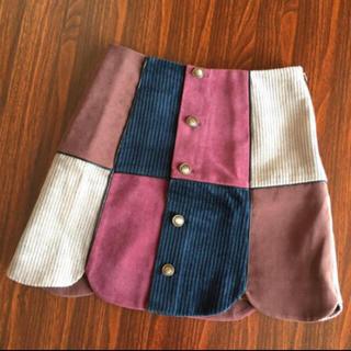 リリーブラウン(Lily Brown)のLily Brown パイピング台形スカート(ミニスカート)
