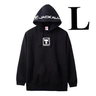 ジャッカル(JACKALL)の新品未試着 ジャッカル プルオーバーフーディ【ブラック/ Lサイズ】(ウエア)