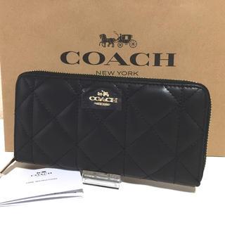 コーチ(COACH)のCOACH コーチ 長財布 キルティング ブラック 新品(財布)