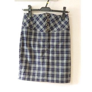 ミーア(MIIA)のMIIA 新品未使用 チェックスカート(ひざ丈スカート)