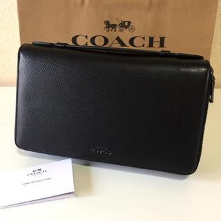 コーチ(COACH)の新品コーチ メンズトラベル オーガナイザー クラッチバッグ(長財布)