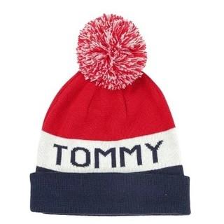トミーヒルフィガー(TOMMY HILFIGER)のTOMMY HILFIGER ニット帽 ネイビーブレザー(ニット帽/ビーニー)