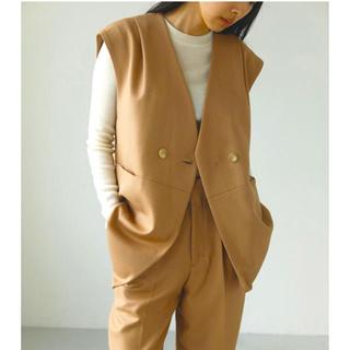 トゥデイフル(TODAYFUL)のTODAYFUL Wool Twill Vest ベージュ(ベスト/ジレ)