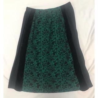 ツモリチサト(TSUMORI CHISATO)のツモリチサト フラワー刺繍スカート(ひざ丈スカート)