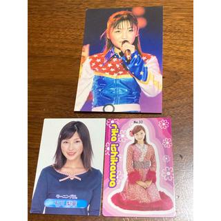 モーニングムスメ(モーニング娘。)の石川梨華 スナップ写真、カード2枚セット(アイドルグッズ)