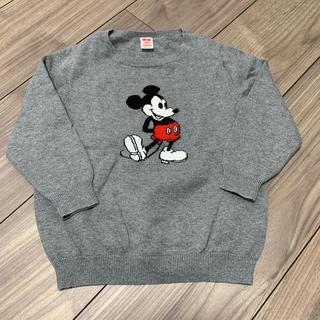 ディズニー(Disney)のUNIQLO ミッキーセーター ディズニー  100(ニット)