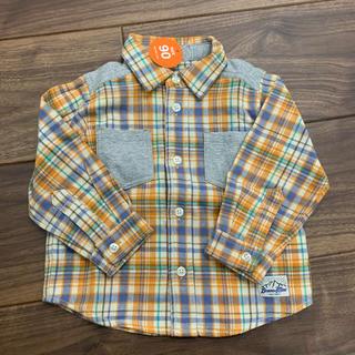 ビームス(BEAMS)の新品未使用 BEAMS mini チェックシャツ 90cm(Tシャツ/カットソー)