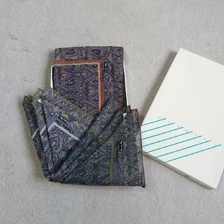 クリスチャンディオール(Christian Dior)の【未使用品】Christian Dior メンズハンカチ 3枚セット(ハンカチ/ポケットチーフ)