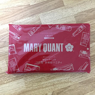 MARY QUANT - * &ROSY 雑誌付録 マリークワント バニティポーチ