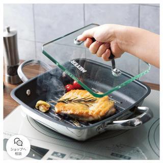 マイヤー(MEYER)の【新品未使用】マイヤー スクエアグリルパン 24センチ(鍋/フライパン)