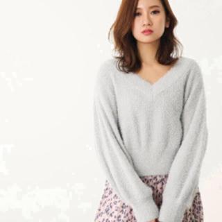リエンダ(rienda)の ラメシャギーパフSLV Knit TOP(ニット/セーター)