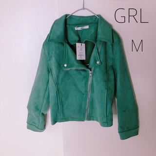 グレイル(GRL)のグレイル ⭐︎新品⭐︎ベロア風⭐︎ライダースジャケット(ライダースジャケット)