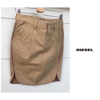 ディーゼル(DIESEL)のディーゼル【洗える】ヴィンテージ  ウォッシュ加工 ひざ丈 パイピング スカート(ひざ丈スカート)