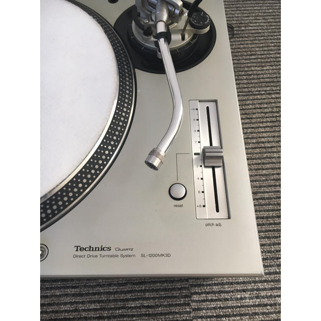 Technics ターンテーブル SL-1200MK3D シルバー 2台セット 楽器のDJ機器(ターンテーブル)の商品写真