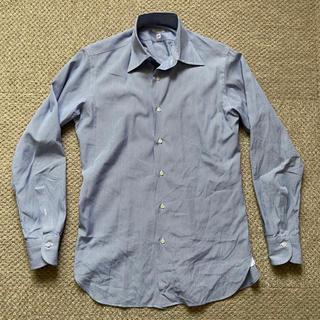 DRESSTERIOR - ドレステリア  ストライプシャツ 38 ドレスシャツ 紺 ネイビー