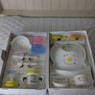 ミキハウス(mikihouse)のミキハウステーブルウェアセット新品(離乳食器セット)