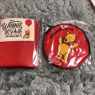クマノプーサン(くまのプーさん)の大人のおしゃれ手帖  付録  エコバッグ&刺繍ポーチ(エコバッグ)