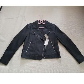 ユニクロ(UNIQLO)のUNIQLO ライダースジャケット 新品 L 黒(ライダースジャケット)