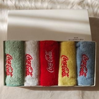 コカコーラ(コカ・コーラ)のコカ・コーラハンカチタオル5点セット(タオル/バス用品)