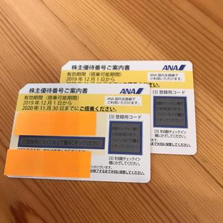 エーエヌエー(ゼンニッポンクウユ)(ANA(全日本空輸))のANA 株主優待 2枚セット(航空券)