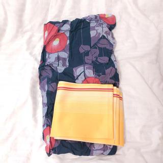 ユニクロ(UNIQLO)の紫 紺色 浴衣 ユニクロ(浴衣)
