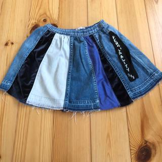 ゴートゥーハリウッド(GO TO HOLLYWOOD)のgo to hollywood デニム パッチワーク スカート 110cm(スカート)