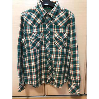 ティーエムティー(TMT)のTMT チェックダブルガーゼウエスタンシャツ ネルシャツ HEROキムタク着用品(シャツ)