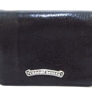 クロムハーツ(Chrome Hearts)のクロムハーツ 2つ折り財布 - 黒 レザー(財布)