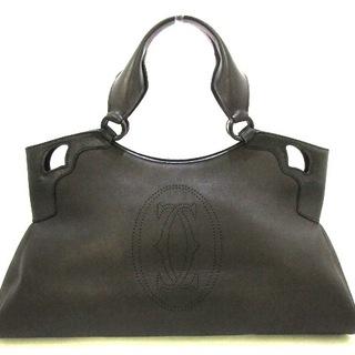 カルティエ(Cartier)のカルティエ ハンドバッグ マルチェロ 黒(ハンドバッグ)