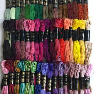 オリンパス(OLYMPUS)のDMC、オリンパス混合刺繍糸50色50本 4(生地/糸)